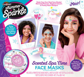 Shimmer and Sparkle Make Your Own Spa Time Face Masks