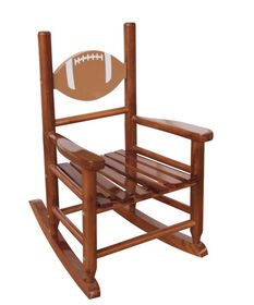 Kid's Rocking Chair - Brown with FootBall