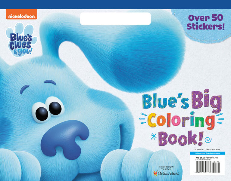 Blue's Big Coloring Book (Blue's Clues & You) - Édition anglaise