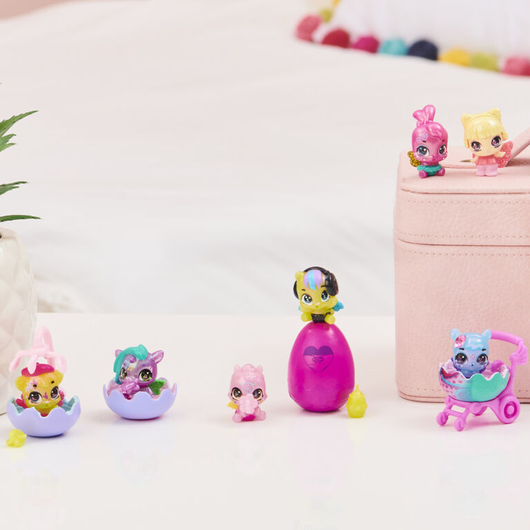 Hatchimals CollEGGtibles, Shimmer Babies Multipack with 4 Characters and Surprise Accessory (Styles May Vary)