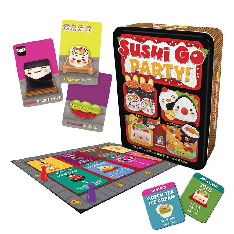 Gamewright - Sushi Go Party! Game