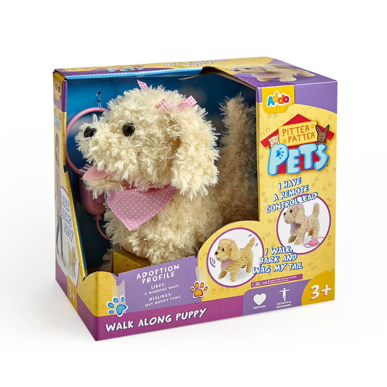Pitter Patter Pets Walk Along Puppy Cream - R Exclusive