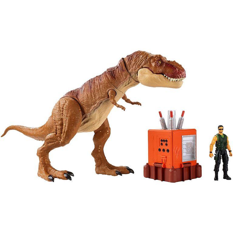 Jurassic World - Destruct-A-Saurs - Coffret de jeu Embuscade Tyrannosaure Rex. - Notre Exclusivité