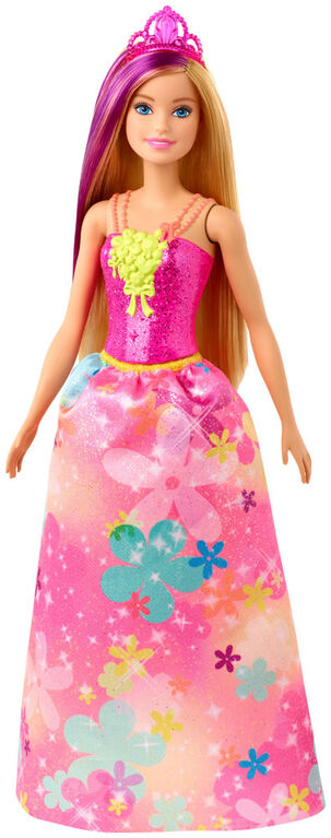 Barbie Dreamtopia Princess Doll, 12-inch, Blonde with Purple Hairstreak
