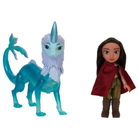 "Disney's Raya and the Last Dragon - 6"" Petite Raya Doll and Sisu Dragon Figure Gift Set - R Exclusive"