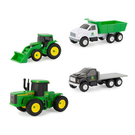 John Deere 4 piece Carded Vehicle Set - Assortment May Vary