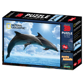 National Geographic Dolphins 500 Piece Super 3D Puzzle