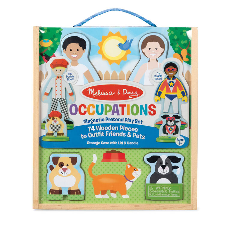Occupations Magnetic Dress-Up Play Set - English Edition