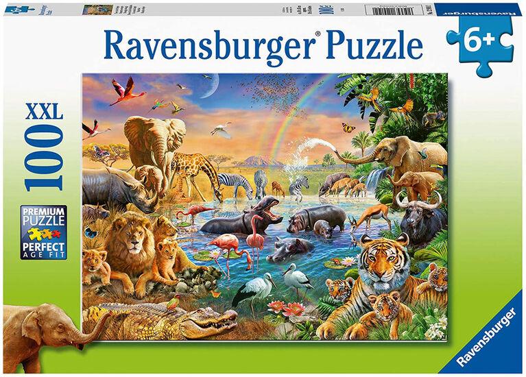 Ravensburger - Savannah Jungle Waterhole Puzzle 100pc