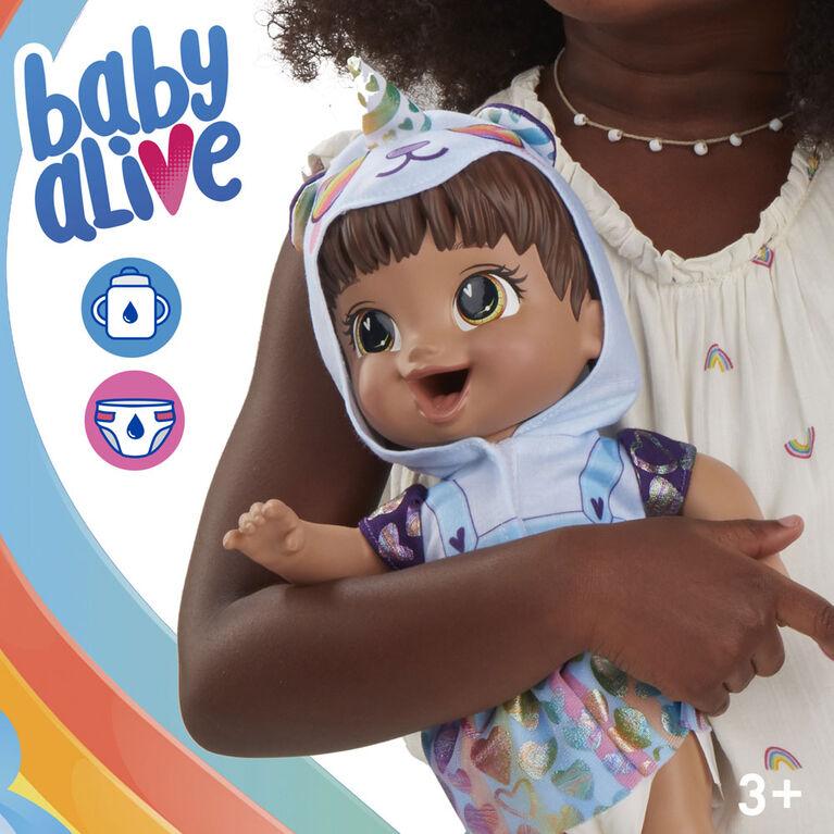 Baby Alive, poupée Mini-licorne, panda-licorne