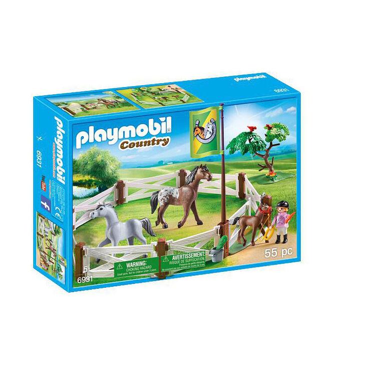 Playmobil - Enclos avec chevaux (6931)