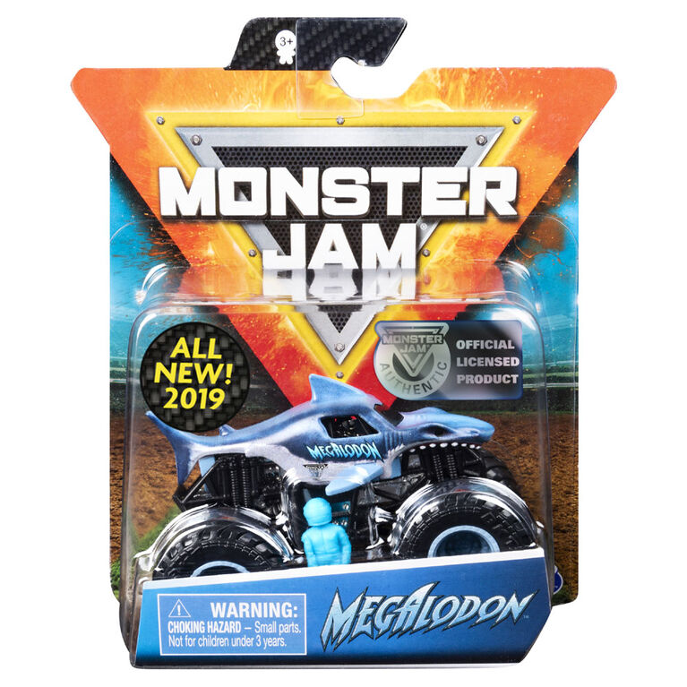 Monster Jam, Official Megalodon Monster Truck, Crazy Creatures Series, 1:64 Scale