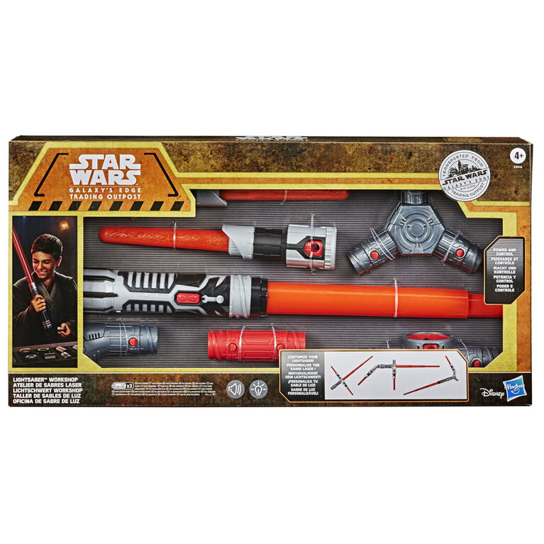 Star Wars Galaxy's Edge Lightsaber Workshop Power and Control Electronic Lightsaber Roleplay Item - R Exclusive