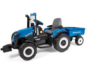 Peg-Perego New Holland T8 Tractor with Trailer.