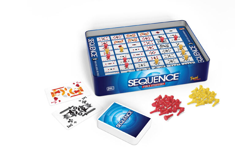 JAX Sequence Game in Travel Tin - English Edition