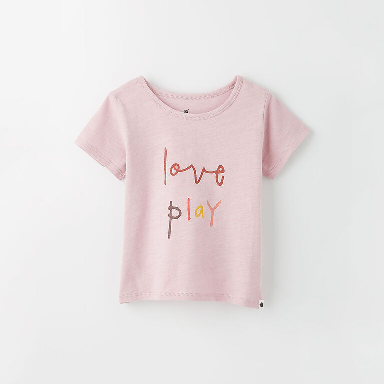 12-18m t-shirt imprimé à manches courtes - violet pâle