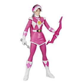Power Rangers Mighty Morphin, Ranger rose Morphin Hero, figurine de 30 cm avec accessoire