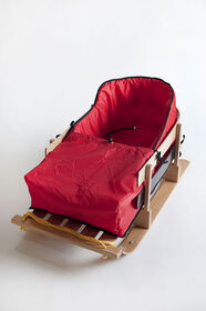 JAB - Large Deluxe baby sled with cushion
