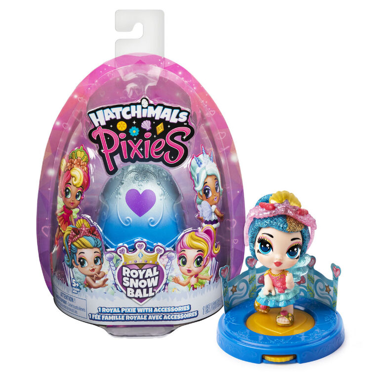 Hatchimals, Pixies Royals, 2.5-Inch Collectible Doll and Accessories (Styles May Vary)
