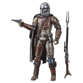 Star Wars The Black Series, collection Graphite, figurine articulée du Mandalorien de 15 cm - Notre exclusivité