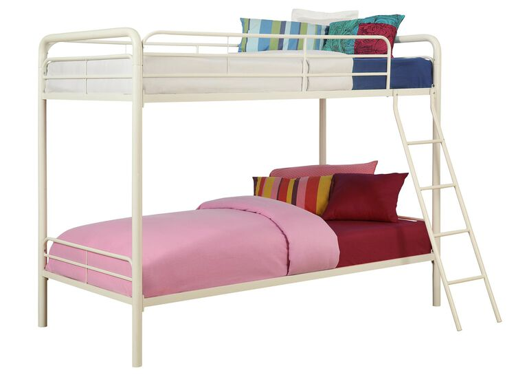 DHP Twin over Twin Bunk Bed – White