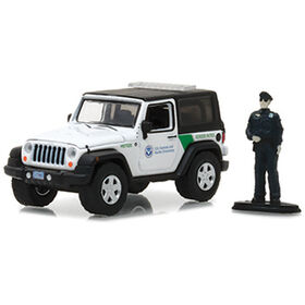 1:64 The Hobby Shop Series 2 - 2016 Jeep Wrangler - U.S. Customs and Border Protection with Customs Officer