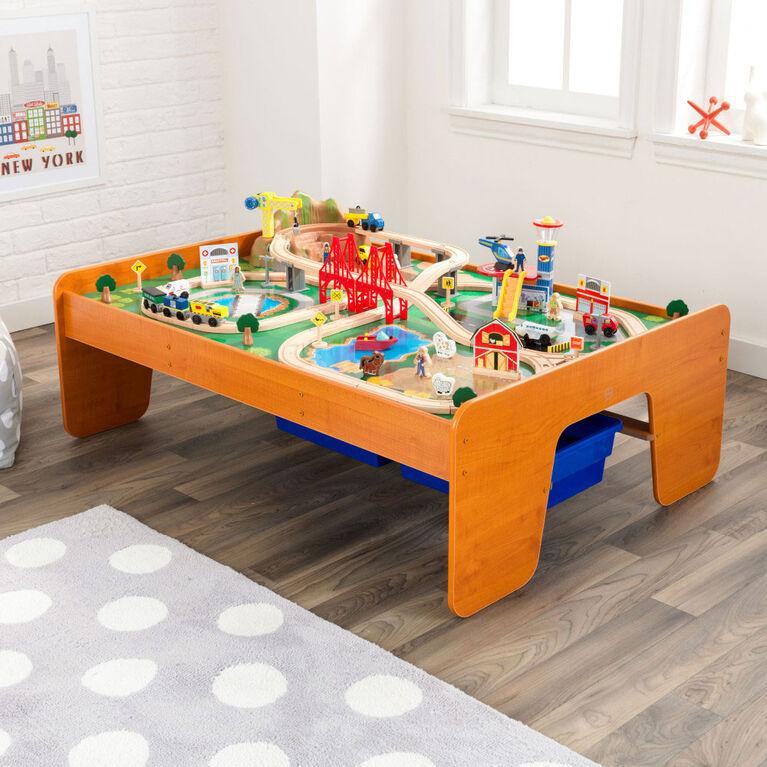 KidKraft - Table et coffret train Un tour en ville