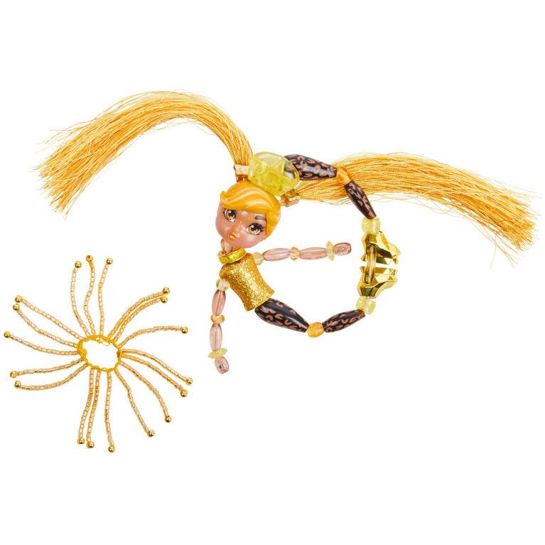 Twisty Girlz, Série 2, Poupée à transformer en bracelet à collectionner Ladygold avec Twisty Petz mystère
