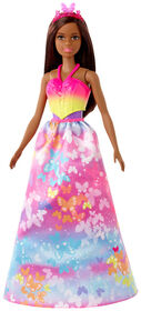 Barbie Dreamtopia Dress Up Doll Gift Set, approx. 12-inch, Brunette with 3 Fashions