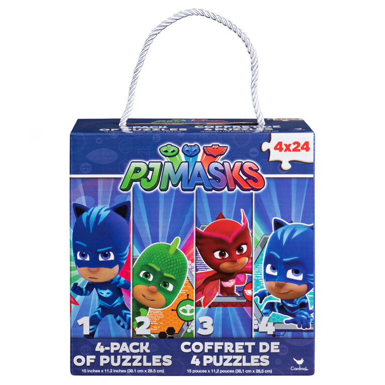 PJ Masks 4-Pack of Puzzles