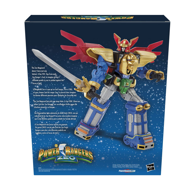 Power Rangers Zeo Megazord 12-inch Collectible Action Figure, Poseable with Multiple Helmets and Accessories  - R Exclusive