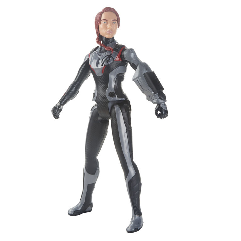 Marvel Avengers : Phase finale Titan Hero Series - Figurine de Black Widow avec port Titan Hero Power FX.