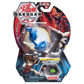Bakugan, Aquos Fangzor, 2-inch Tall Collectible Action Figure and Trading Card