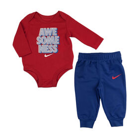 Nike - Bodysuit & Pant set - Blue, 6 Months