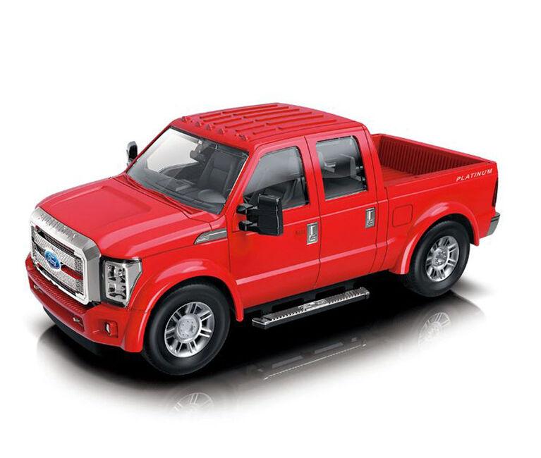 Braha 1:24 Licensed Friction Car (F-350 Super Duty Platinum Red)