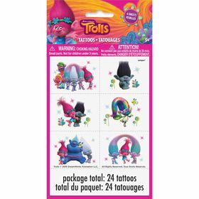 Trolls Color Tattoo Sheets 4 pieces