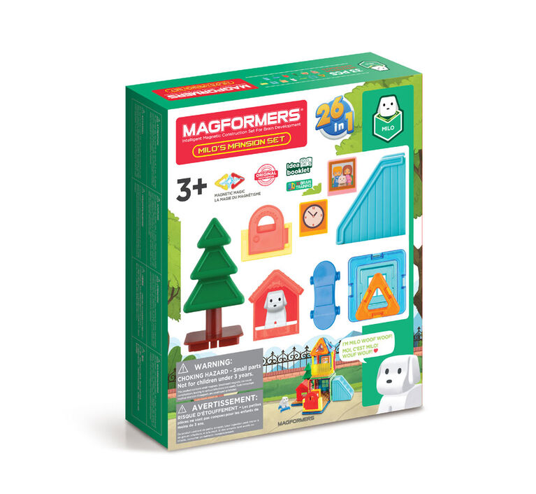 Magformers Milo's Mansion Set, Rainbow Colors