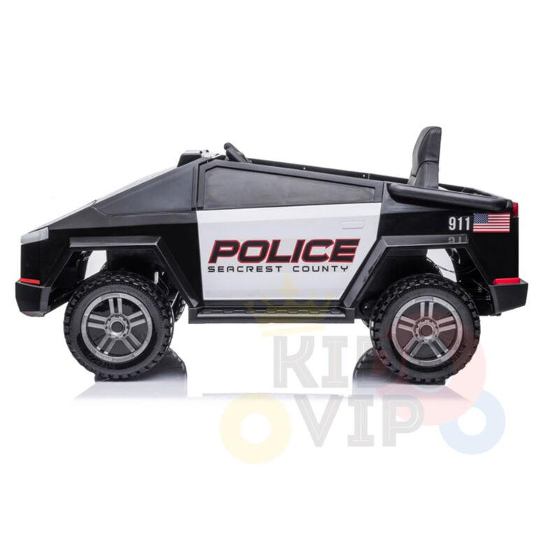 KidsVip 12V Enfants et Tout-Petits Police Edition Voiture Eléctrique avec Commande à Distance