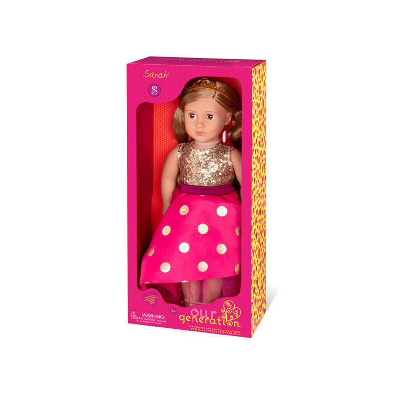 Our Generation, Sarah, 18-inch Doll with Tiara