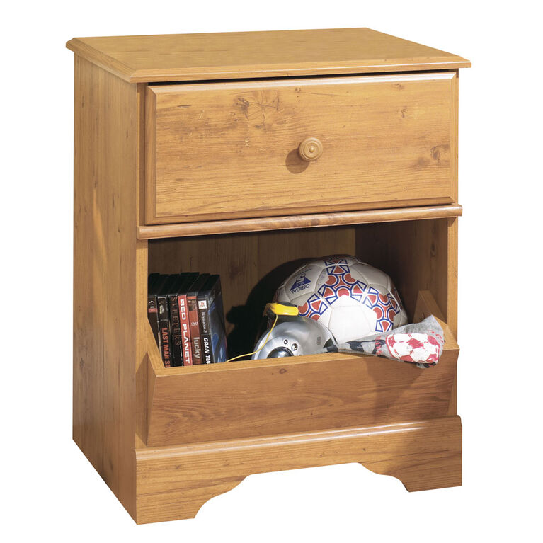 Little Treasures Table de chevet 1 tiroir- Pin country