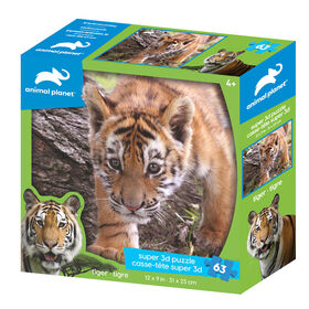 Animal Planet: Tiger - 63 Piece 3D Puzzle