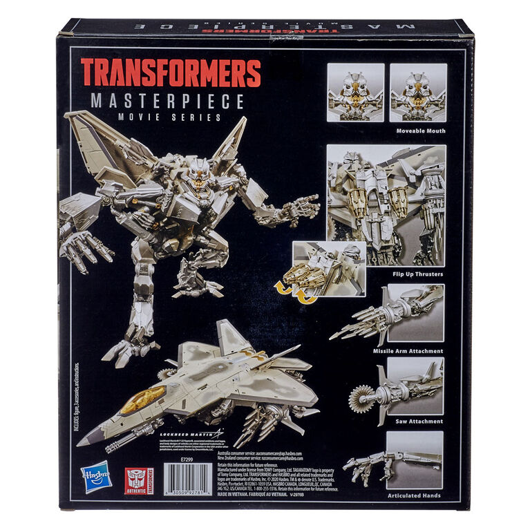 Transformers Movie Masterpiece Series MPM-10 Starscream Collector Figure, Transformers Movie 1 - English Edition - R Exclusive