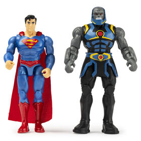 DC Comics, 4-Inch SUPERMAN vs. DARKSEID Action Figure 2-Pack with 6 Mystery Accessories, Adventure 1
