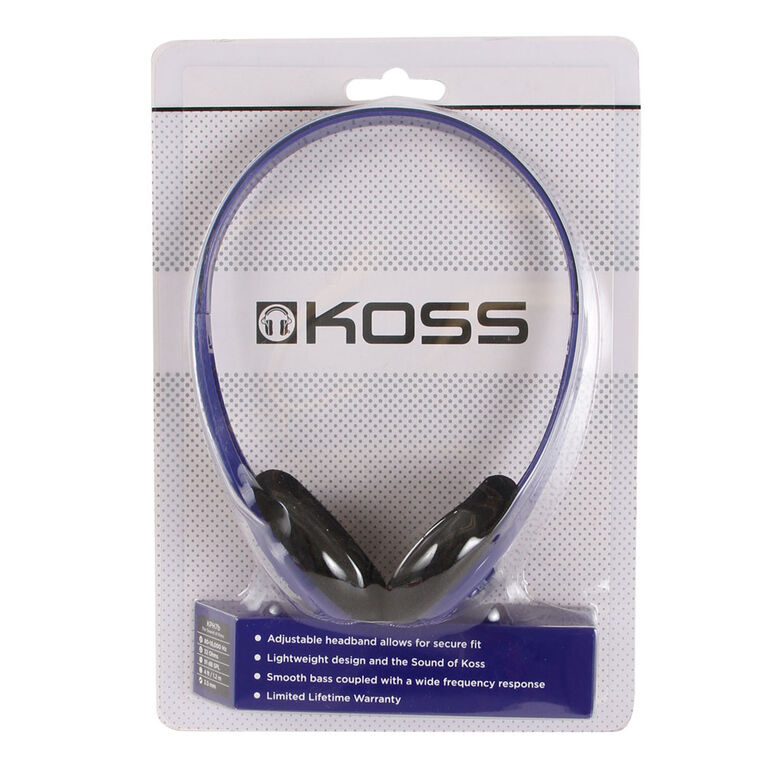 Koss Headphone KPH7 Portable On Ear Blue