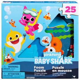 Pinkfong Baby Shark - Puzzle en mousse de 25 pièces