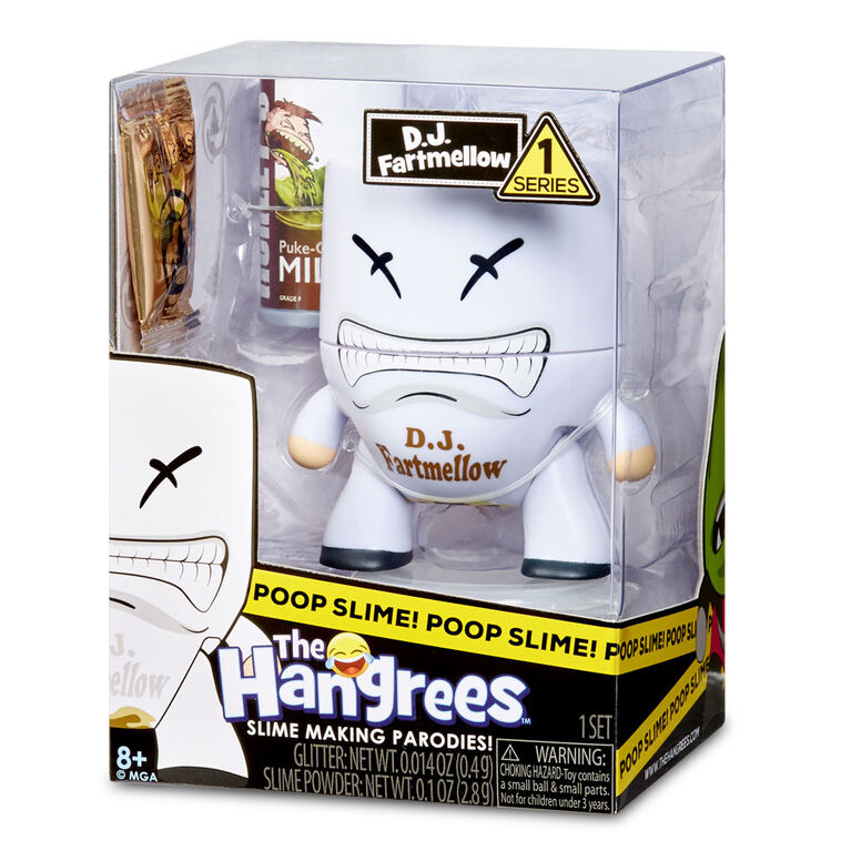 The Hangrees: D.J. Fartmellow Collectible Parody Figure with Slime