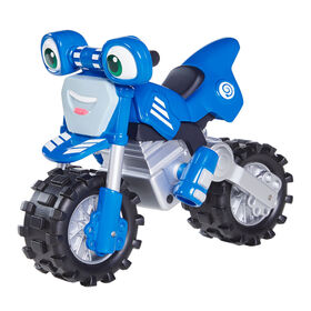 Ricky Zoom Super Rev Loop - Large 7 Inch Toy Motorcycle with Free Rolling Wheels and Revving Sounds for Preschool Play - R Exclusive