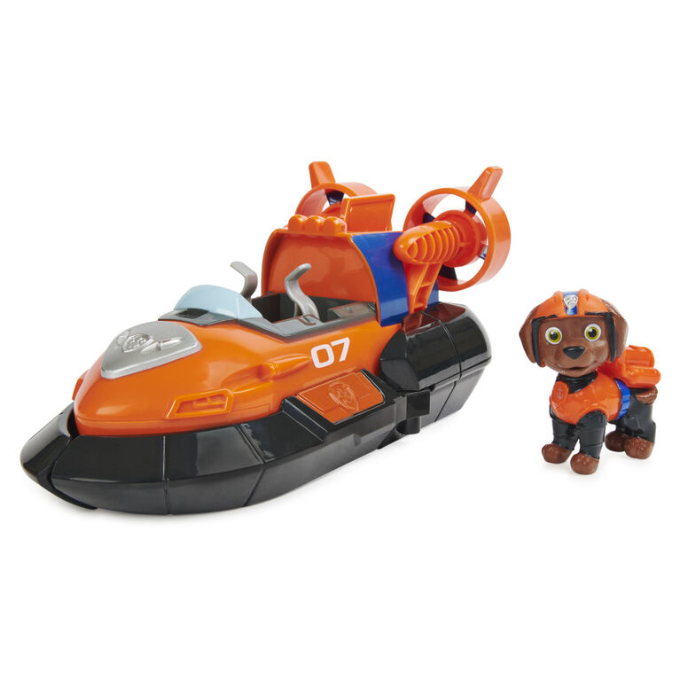 PAW Patrol, Zuma's Deluxe Movie Transforming Toy Car with Collectible Action Figure