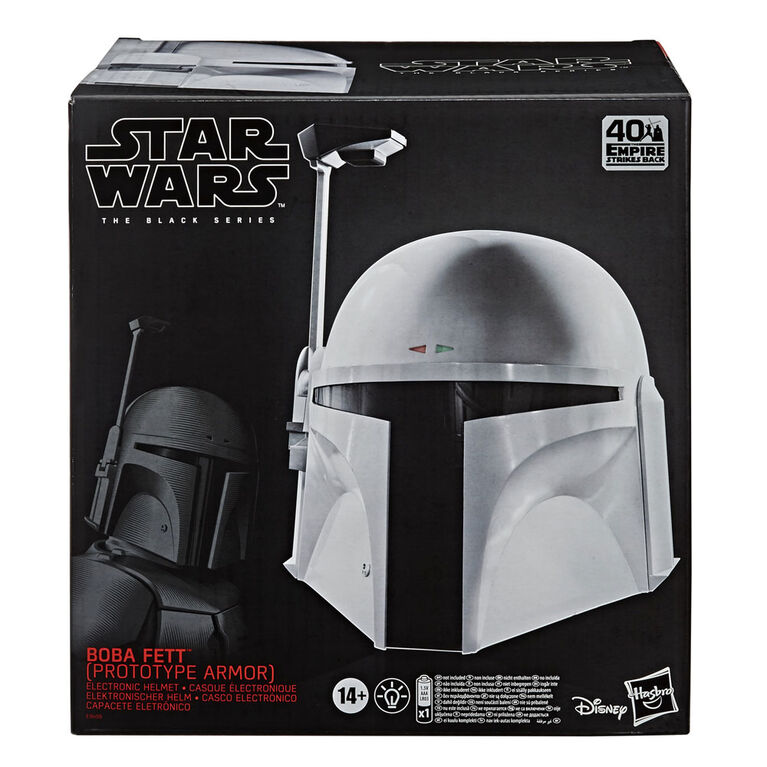 Star Wars The Black Series Boba Fett (Prototype Armor) Premium Electronic Helmet, Roleplay Collectible - R Exclusive