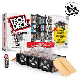 Tech Deck, Play and Display, Coffret rampe transformable et mallette de transport avec fingerboard exclusif